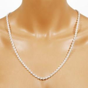 Perlenkette weiss 5 mm