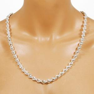 Perlenkette silber 8 mm