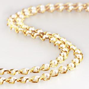 Perlenkette weiss 11 mm