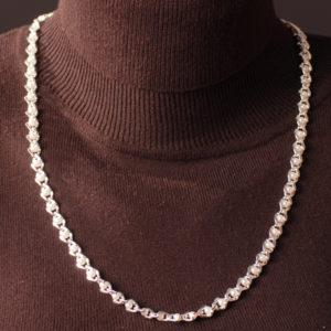Perlenkette weiss 6 mm