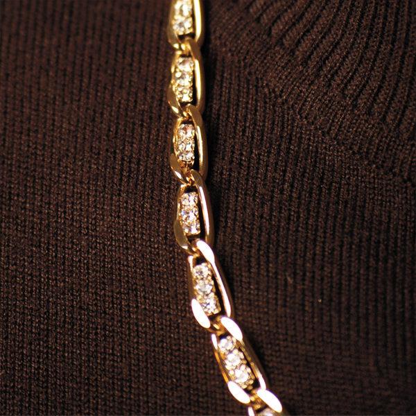 Zirkoniakette 3-Steine 6 mm