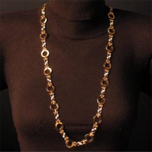 Perlenkette weiss große Glieder