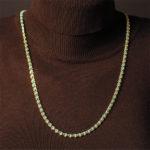 Perlenkette türkis 5 mm
