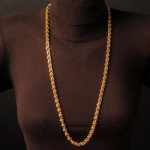 Perlenkette gold 6 mm