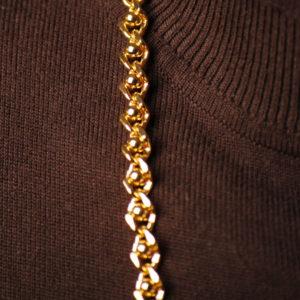 Perlenkette gold 8 mm